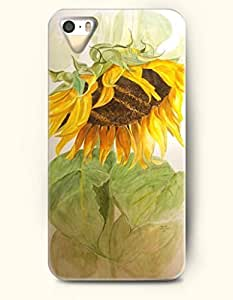 OOFIT Phone Case for Apple iPhone 4/4S -- Sunflower -- Oil Painting