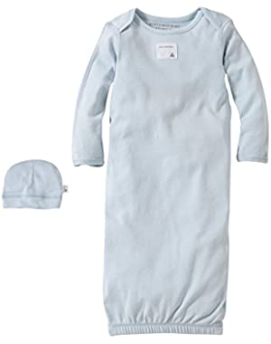 Baby Organic Gown and Cap Set