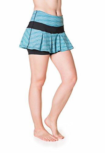 Skirt Sports Lioness Skirt, Wave/Black, X-Small by Skirt Sports