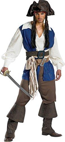Men's Costume: Jack Sparrow Deluxe- Plus Size
