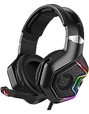Gaming headset met microfoon over-ear ruis annuleren hoofdtelefoon met led licht handige levensaccessoires