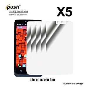 High Transparency Mirror LCD Screen Protector for Motorola Droid Mini (5 Pieces)