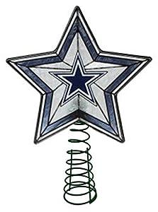 Amazon.com: Glass Star Treetopper - Dallas Cowboys: Sports & Outdoors