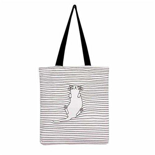 Handbag Bag HN Canvas Travel Shoulder Women Style Cute Zipper O Bags School fxAzxw6q