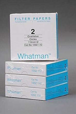 Lab Safety Supply Quantitative Filter Paper PK100 Cellulose 12K916-1 Each 20um 9cm