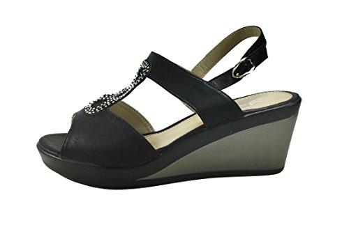 SENZA MARCA Women's Fashion Sandals Black