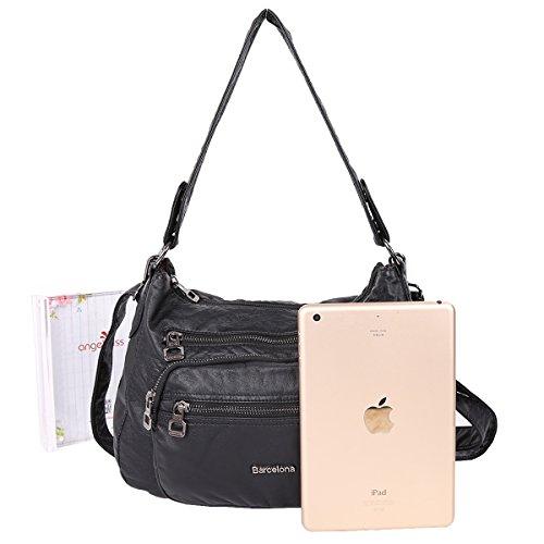 21K 4 Layers shoulder bags PU Leather Crossbody Bag Middle Size Shoulder Bag K15251
