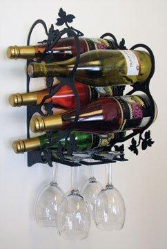 16.5 Inch Grapevine Wine Rack Wall Mount