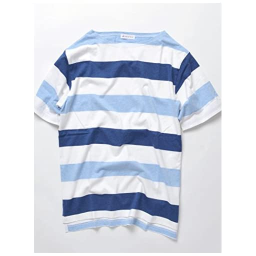 (シップスジェットブルー) SHIPS JET BLUE / :ワイドボーダー ボートネック半袖Tシャツ◇ 122120214