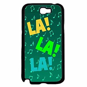 Zheng caseLalala Music Notes - Plastic Phone Case Back Cover Samsung Galaxy Note II 2 N7100