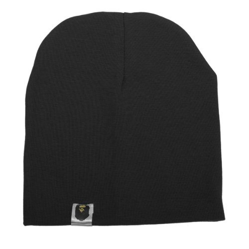 Knit Boys Beanie (Unisex Cotton Beanie Hat for Cute Baby Boy/Girl Soft Toddler Infant Cap (Black))