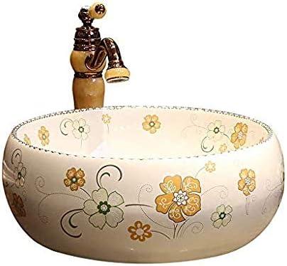 アートカウンター盆地ヨーロッパセラミック洗面台ラウンド浴室カウンター洗面バスルームのシンク