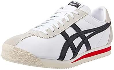 ASICS Australia Tiger Corsair Sneaker, White/Black, 4.5 US