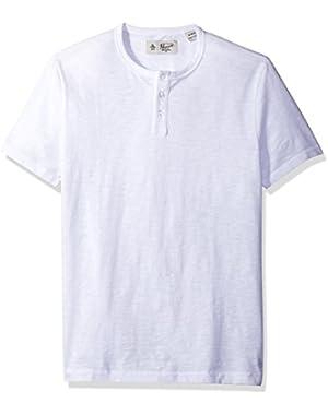 Men's Short Sleeve Bing Henley Slim