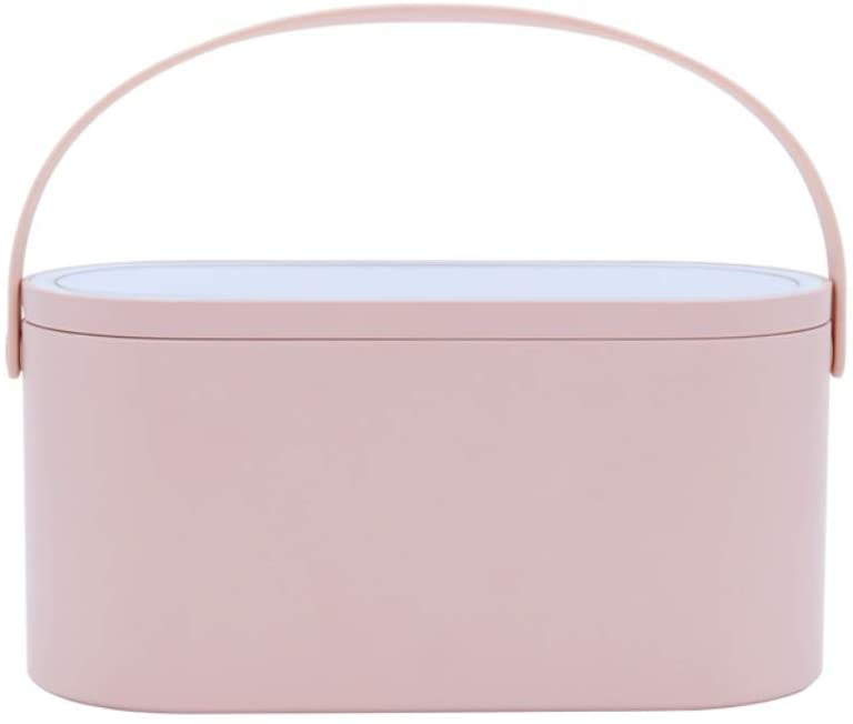 Forart Makeup Case Travel Makeup Bags Organizer with LED Light Mirror, Makeup Train Case Portable Cosmetic Box Jewelry Organizer for Women