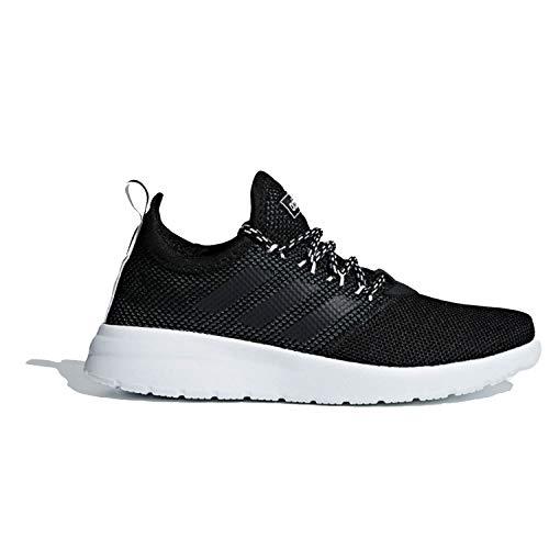 adidas Women's Lite Racer Reborn Running Shoe, Black/Black/Grey, 7 M US