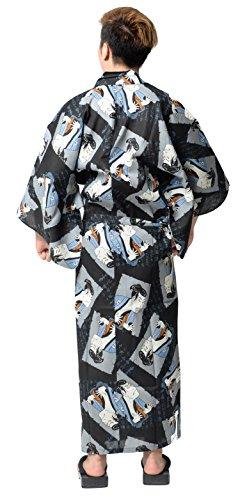d64229f771 Wako Men s Traditional Easy Wearing Japan Cotton Yukata Robe(Japanese  Casual Kimono)