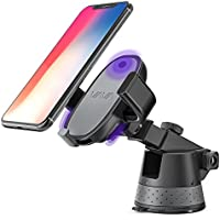 VAVA E-Touch Phone Holder for Car, Electric Auto Lock iPhone Mount with USB Charging for Dashboard & Windshield Fits iPhone X 8 Plus Galaxy S8 Plus S8 Note8 and All Smartphones