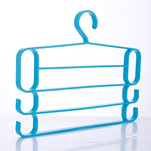 Rziioo Four-Layer Multifunctional Pants Rack Plastic Anti-Sk