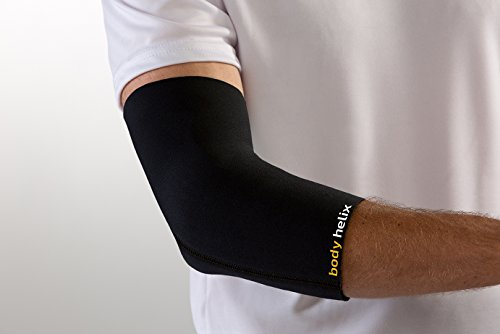 body helix Elbow Compression Sleeve - Full Elbow Compression - Treatment for Tennis Elbow, Golfer's Elbow, and Forearm Pain; Small, Black (Best Treatment For Elbow Pain)