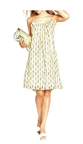 Apart Mujer de vestido de gasa bebé dollkleid Multicolor Creme-Gold