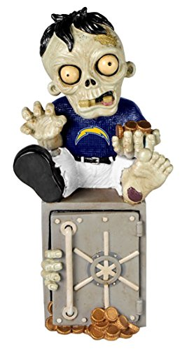 (Forever Collectibles San Diego Chargers Zombie Figurine Bank)