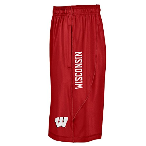 (Under Armour NCAA Wisconsin Badgers Men's Raid Shorts, Medium,)