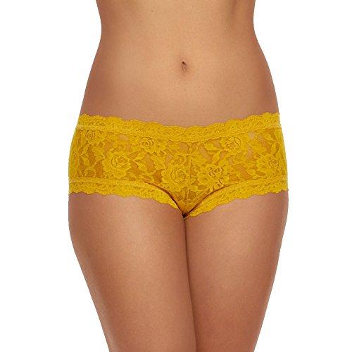 Hanky Panky Signature Lace Boyshort Panty (Yellow Womens Underwear)