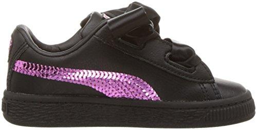 Pictures of PUMA Unisex Basket Heart Bling Kids Sneaker 36684801 3