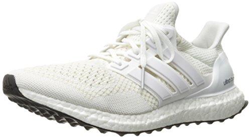 adidas Performance Men's Ultra Boost Running Shoe, White/White/Silver/Metallic, 8.5 M US