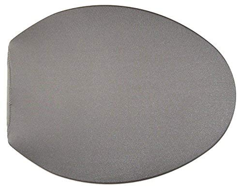 Spandex Fabric Cover for a lid Toilet SEAT fits on Round & Elongated Models - Handmade by us in USA (Gray)
