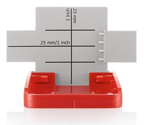 Leica Disto GZM3 DISTO Template/Countertop Target Plate, Red/White 820943