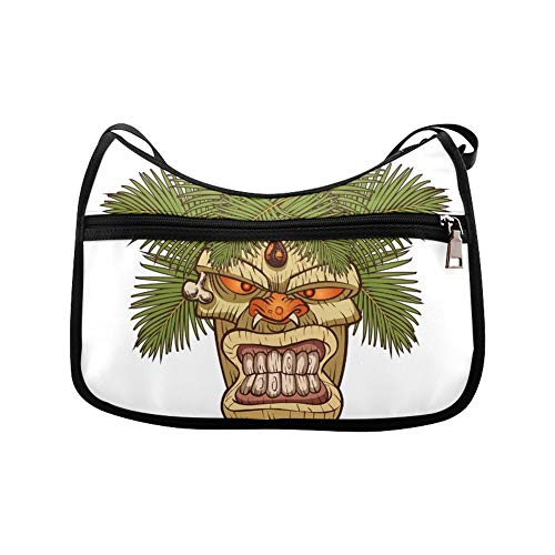 The Symbol Of Primitive Tribe Totem Messenger Bag Crossbody Bag Large Durable Shoulder School Or Business Bag Oxford Fabric For Mens Womens ()