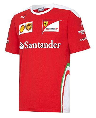 NEU. Sebastian Vettel # 5F12016Treiber T-Shirt (Herren) Ferrari Formula One Team, rot / weiß