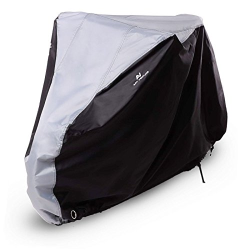 Art Venture Bike Cover Waterproof Outdoor Bicycle Cover Heavy Duty 210D Ripstop Fabric Anti-UV Protection To Extra Protect Your Bike on All Weather Conditions -