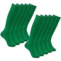 Long Tube Soccer Socks, Feelingway Unisex Knee High Solid...