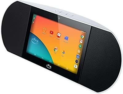 Zettaly Avy Wireless Smart Speaker (White), WiFi Internet Radio Powered By Android 4.4 Kitkat with Built-in 7 Inch Quad Core Tablet and Google Play from Zettaly Inc.