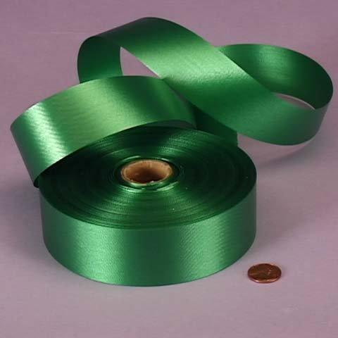 Emerald Green Ribbon - Emerald Green Embossed Poly Satin Ribbon, 4433760