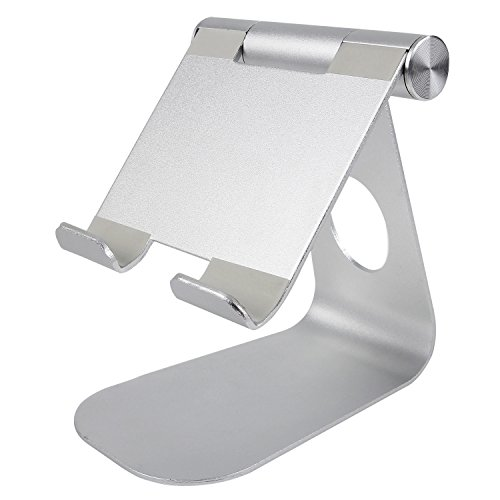Price comparison product image NPET Multi-Angle Aluminum Stand for Tablets,  e-readers and Smartphones-Silver