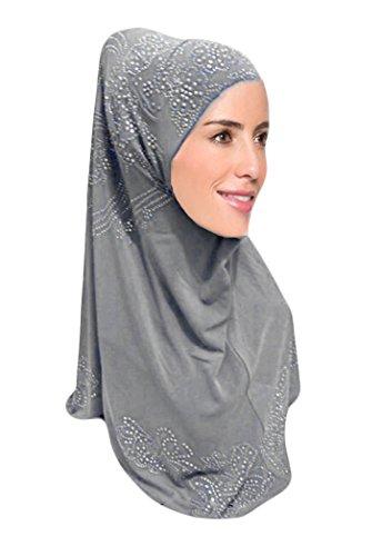 Hanas Womens piece rhinestones Hijab