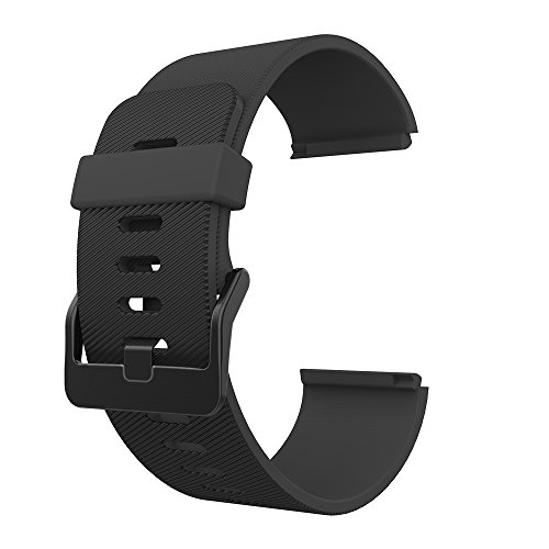 Fitbit Blaze Bands, GeeRic Soft Silicone Replacement Strap Bands for Fitbit Blaze Smart Fitness Watch Black Small