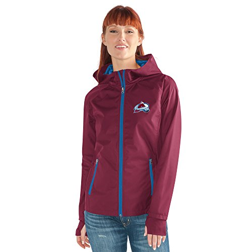 Colorado Avalanche Nhl Light - GIII For Her NHL Colorado Avalanche Women's Onside Kick Light Weight Full Zip Jacket, Medium, Maroon