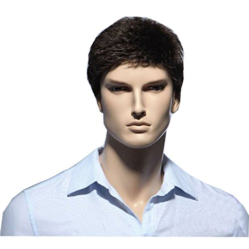 KOLIGHT Business Men Short Brown Wigs Buy Hair Wigs for Men Wig Natural Looking Wig Store -