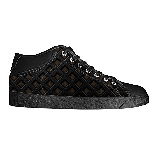 Dalliy Metal Womens Canvas shoes Schuhe Lace-up High-top Footwear Sneakers E