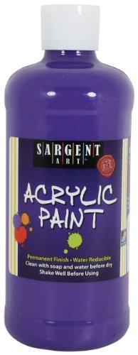 Deep Acrylic Violet - Sargent Art 24-2444 16-Ounce Acrylic Paint, Deep Spectral Violet