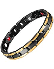 Medical stone germanium energy bracelet for the disposal of electrical charges in the body and balance for men