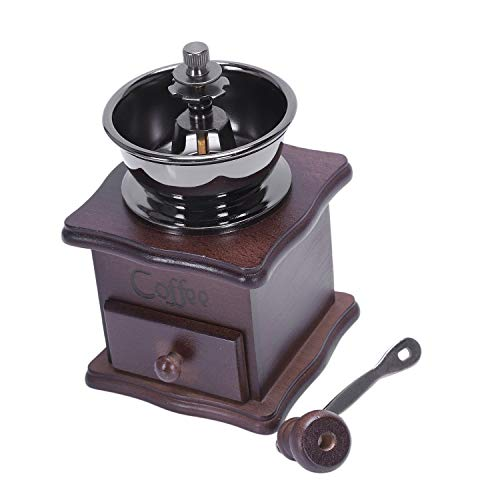 Moligh doll Manual Coffee Grinder, Hand Coffee Beans Grinding Machine, Hand Coffee Burr Mill,Manual Bean Grinder