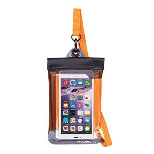(Travelon Floating Waterproof Smart Phone/Digital Camera Pouch, Orange )
