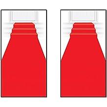"""Beistle S50087AZ2 Red Carpet Runners 2 Piece, 24"""" x 15"""