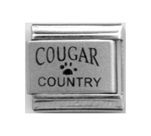Stylysh Charms Cougar Country Laser Engraved Italian 9mm Link LC103 -